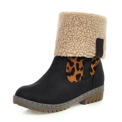 Women Flat Heel Multicolor Keep Warm Snow Boots Shoes