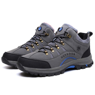 Men Plus Velvet Warm Cotton Shoes Outdoor Sports Hiking