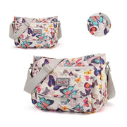 Waterproof Flowers Printing Shoulder Handbags 113944 Seven Colorful Butterfly Women Bags Luggages