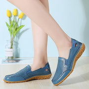 Women Casual Soft Hollow Round Toe Slip On Flat Loafers Shoes