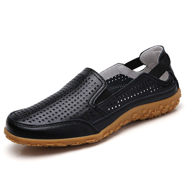 Women Casual Soft Hollow Round Toe Slip On Flat Loafers 134805 Black / Us 4 Shoes