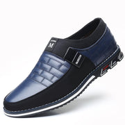 Mens Genuine Leather Stitching Slip On Non Formal Shoes 136195 Blue / Us 6 Men