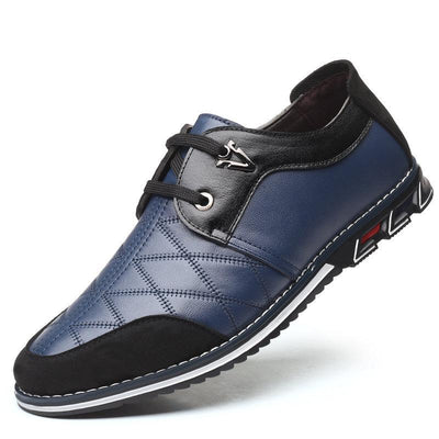 Mens Plaid Leather Lace Up Formal Casual Slip-On Shoes Men