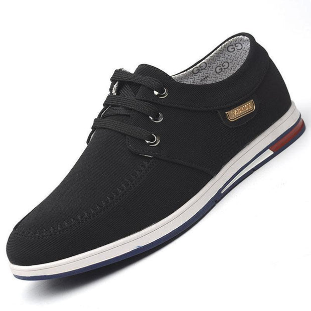 Mens Pure Color Breathable Canvas Non Slip Casual Flats 136196 Black / Us 6 Men Shoes