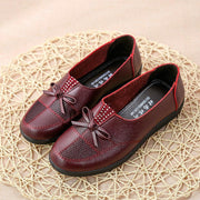 Womens Soft Lightweight Butterfly Knot Slip-On Flats 136213 Red / Us 5 Women Shoes