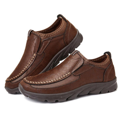 Mens Large-Size Hand-Stitching Non-Slip Slip-On Shoes Men