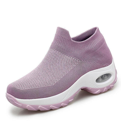 Womens Mesh Breathable Shallow Mouth Slip-On Sneakers Women Shoes