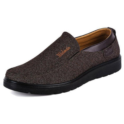 Mens Old Peking Stylish Formal Business Casual Slip-On Flats Men Shoes