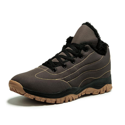 Womens Warm Suede Plus-Sizes Outdoors Athletic Casual Hiking Sneakers Women Shoes