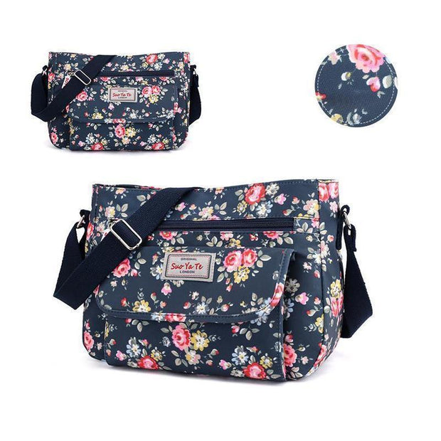 Waterproof Flowers Printing Shoulder Handbags 113944 Month Flower Women Bags Luggages