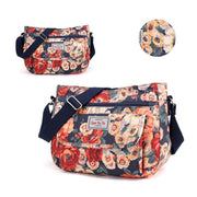 Waterproof Flowers Printing Shoulder Handbags 113944 Painted Flower-Caihuihua Women Bags Luggages