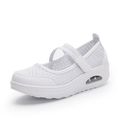 Womens Flying Woven Cushion Nurse Sneakers 117985 White / Us 4 Women Shoes