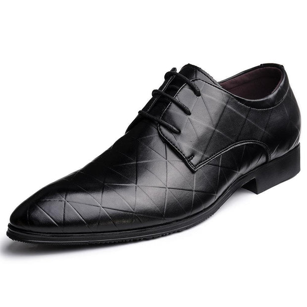 Large Size Men British Style Leather Casual Formal Dress Shoes 131601 Black / Us 6.5