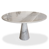 White Marble Round Dining Table