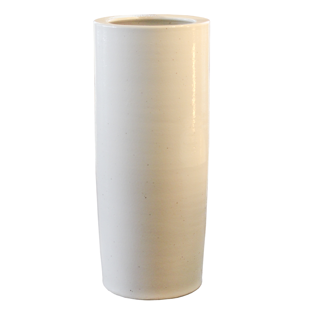 White Ceramic Umbrella Stand