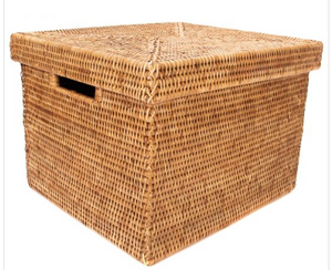 Woven Storage Box with Lid