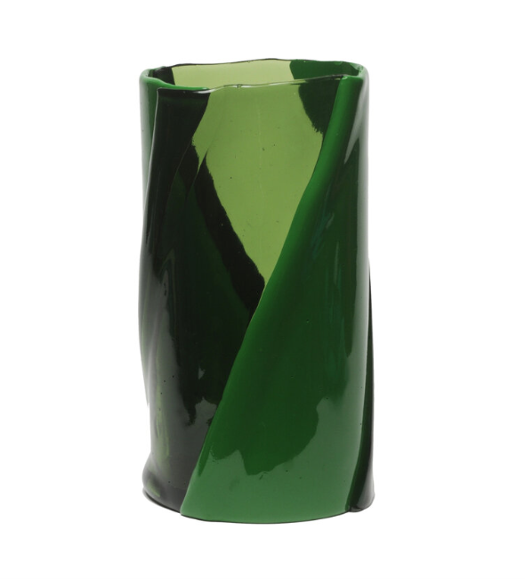 Tall Vaso Twirl, Green