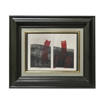 Vintage Watercolor in Black Frame