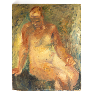 Oil on Canvas, Female Figure Painting