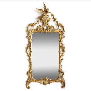 Italian Chinese Chippendale Style Giltwood Mirror