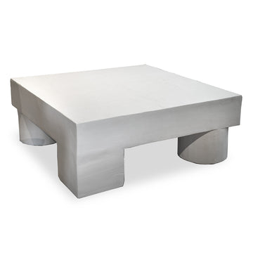 "Square Plaster Coffee Table. Dim: 48""W x 48""D x 18""H"