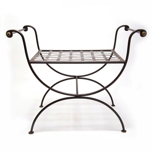Vintage Iron Empire Style Bench