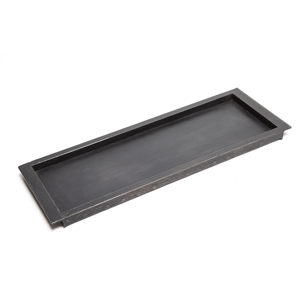 Handcrafted Metal Side Rail Tray