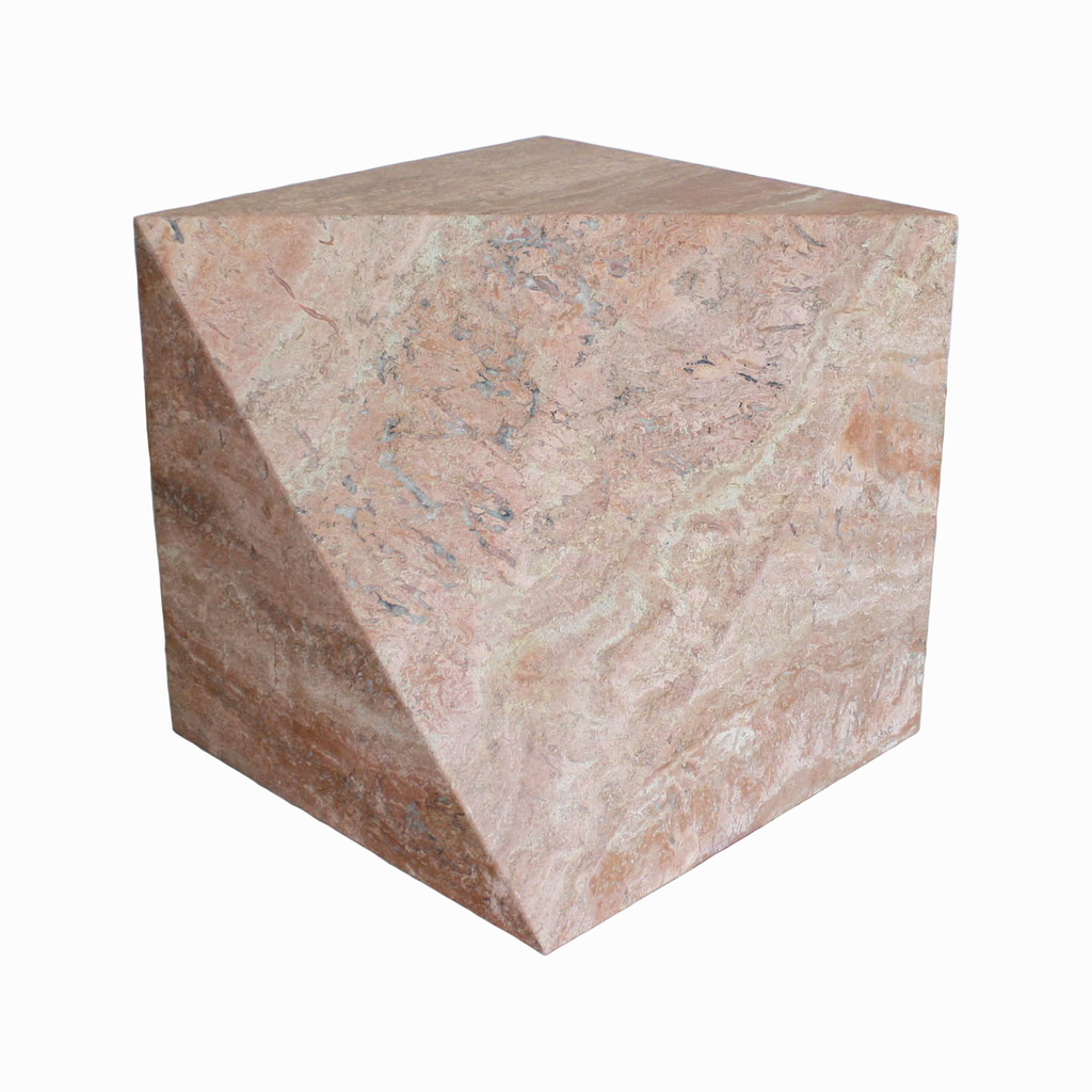 Found Collection Pink Travertine Cube