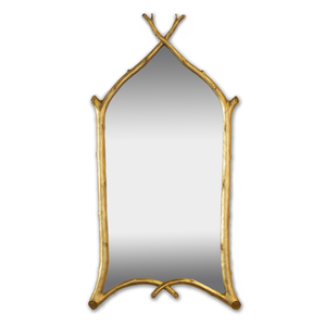 Twig Mirror in Gold