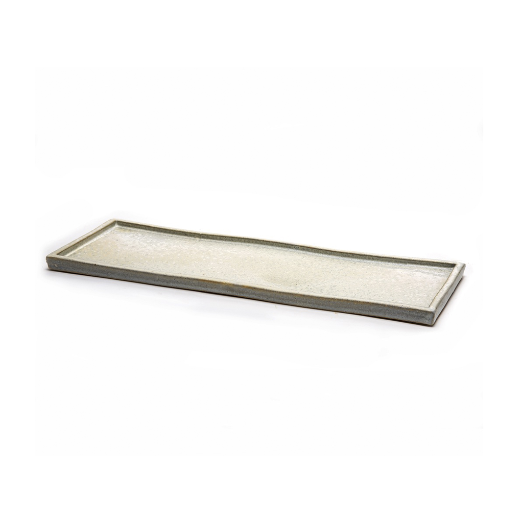 Long White Ceramic Tray