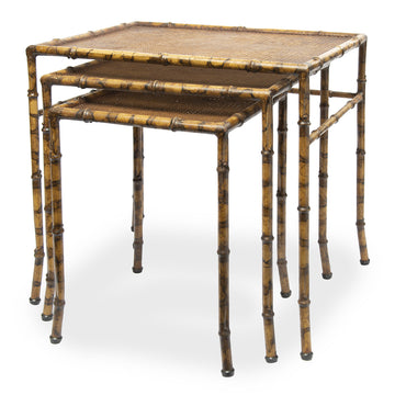 Faux Bamboo Nesting Tables