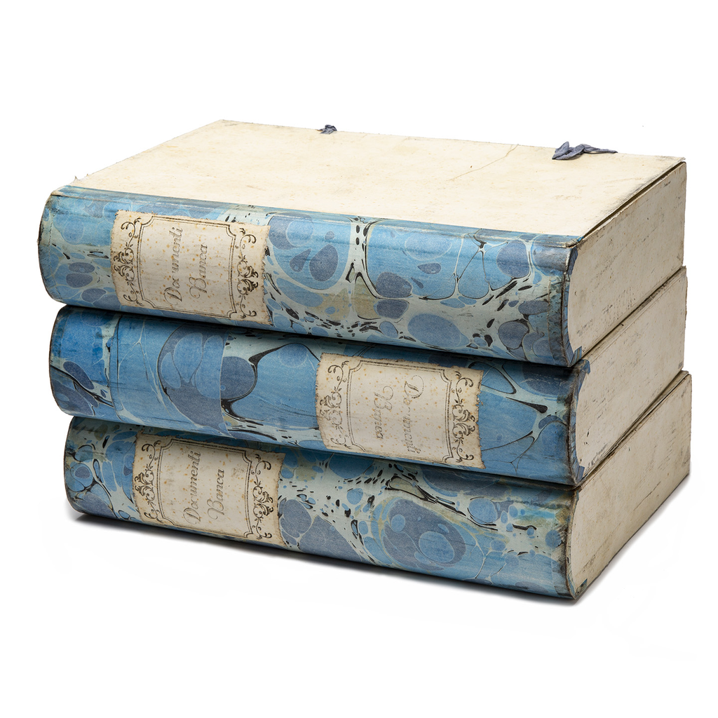 Blue Marbled Vintage Document Box