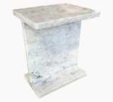 Marble I-Beam Side Table