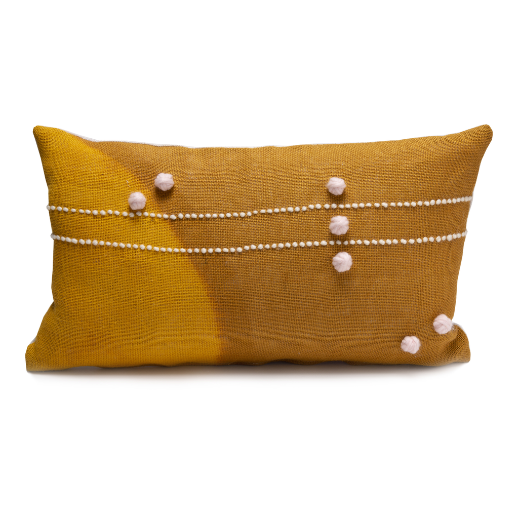 Convex Ochre Pillow