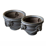 Pair of Mid 20th Century Italian Bronze Planters