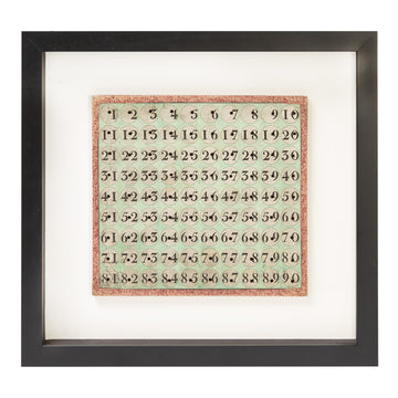Framed French Lotto Card No. 2