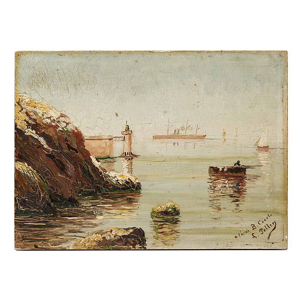 Petite Harbor Scene Oil Painting