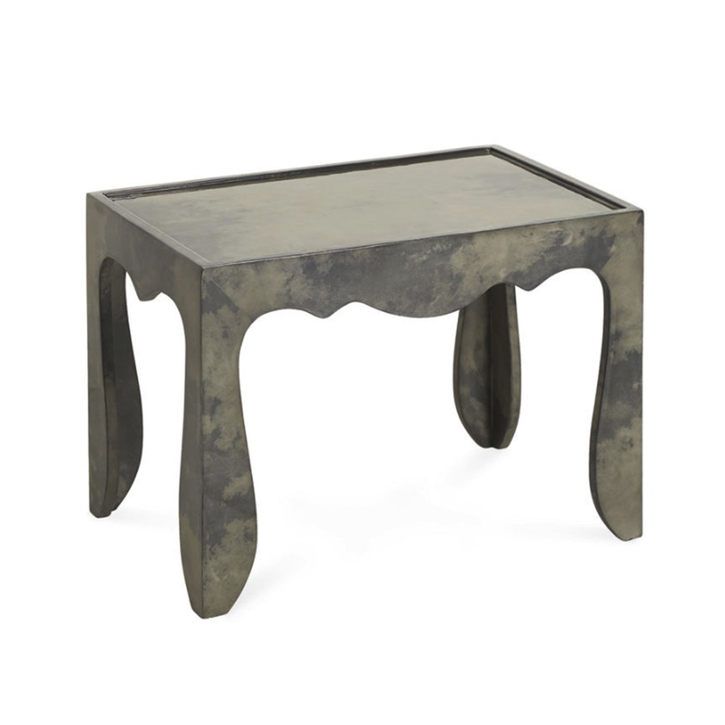 Charcoal Rococo Shaped Accent Table