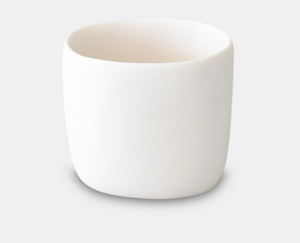 White Resin Square Vessel