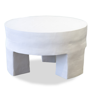 Round Plaster Coffee Table