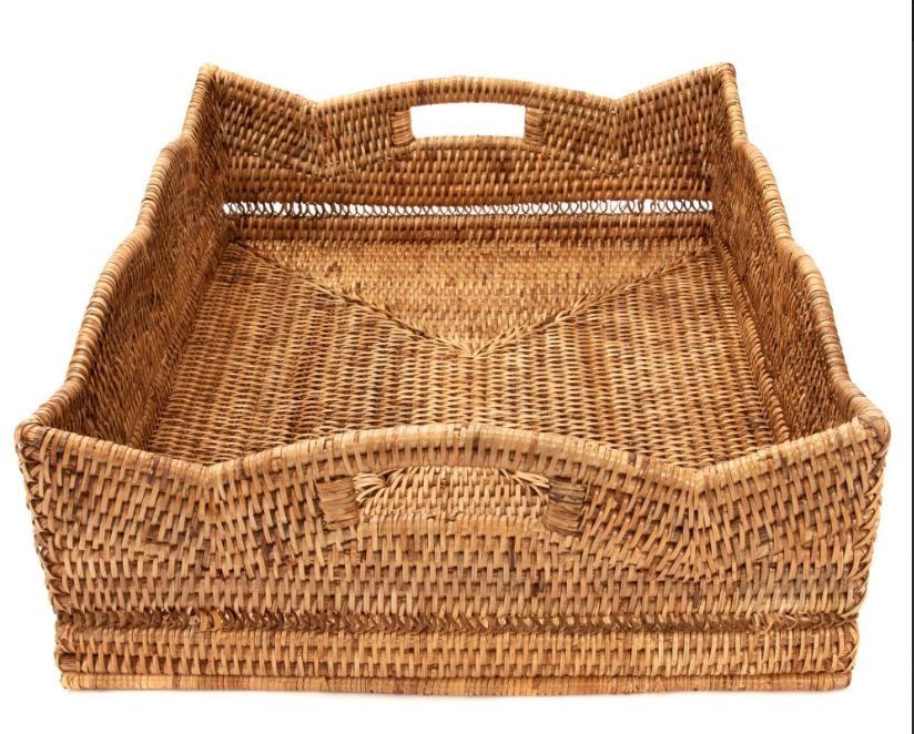 Woven Scalloped Tray