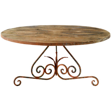 Pine and Iron Round Table