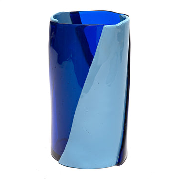 Tall Vaso Twirl, in Blue and Azurro