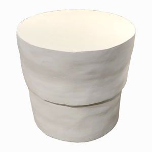 Round Plaster Side Table