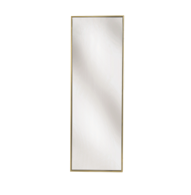 Simple Brass Rectangle Wall Mirror