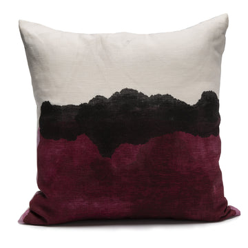 Hand Painted Pillow in Toi Aubergine