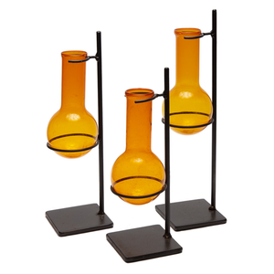 Set of 3 Orange Tubes on Stands