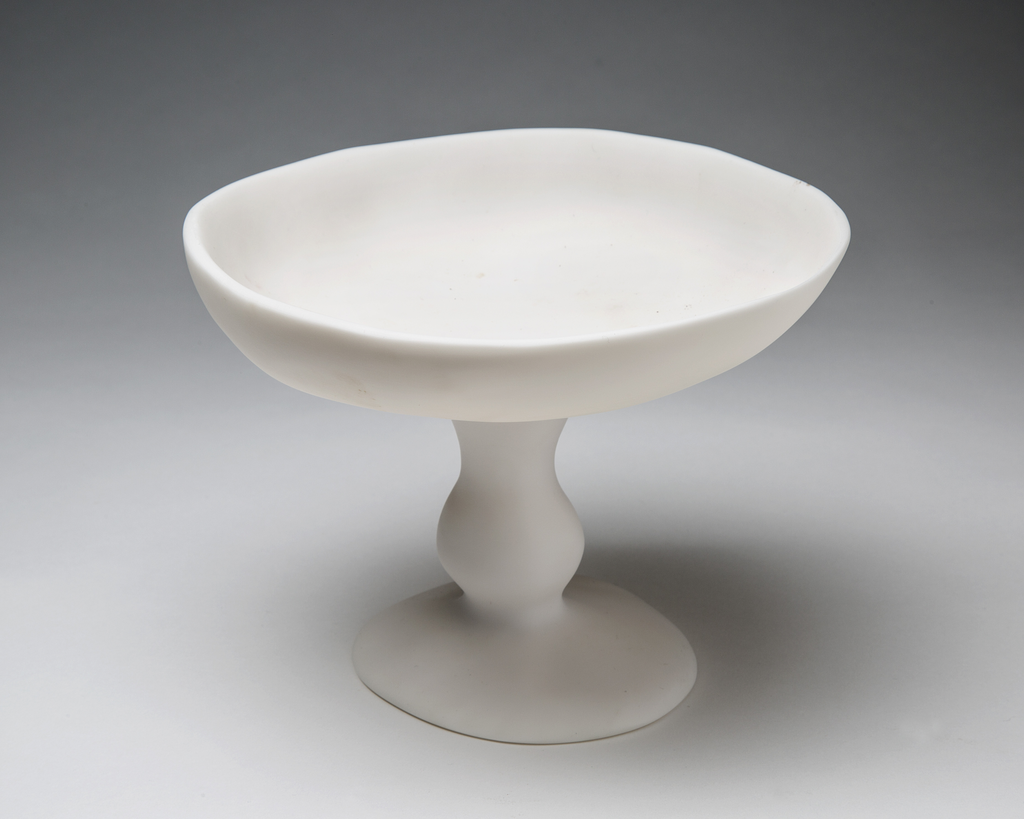 Small White Pedestal Bowl