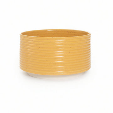 Ribbed Planter in Yellow