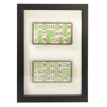 Framed French Lotto Card No. 4